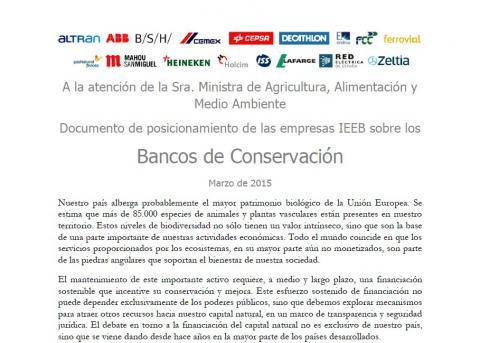 Posicion bancos conservacion