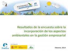 Nivel de integración de aspectos ambientales en la estrategia y gestión empresarial